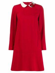 Red Valentino Heart collar mini dress