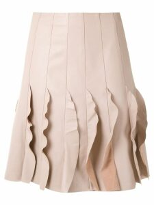 Clé Zig Zag ruffled skirt - Neutrals