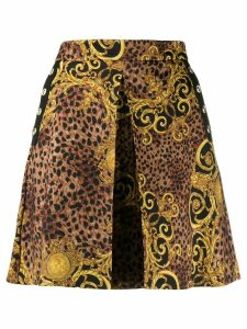 Versace Jeans Couture baroque print mini skirt - Brown