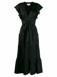 Temperley London ruffled midi dress - Black