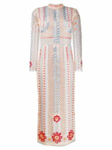 Temperley London teahouse sleeve dress - NEUTRALS