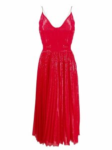 MSGM sequin pleated maxi dress - Red
