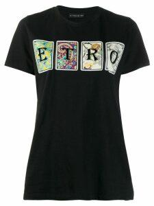 Etro logo printed T-shirt - Black