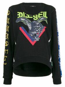Diesel embroidered detail sweatshirt - Black