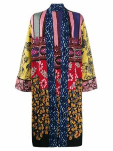 Etro patchwork cardi-coat - Blue