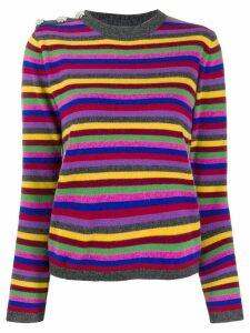Ganni striped cashmere sweater - Grey