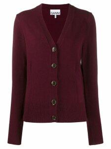 Ganni wool knit cardigan - Red