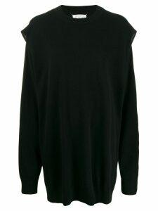 MAISON MARGIELA cut-out knitted dress - Black