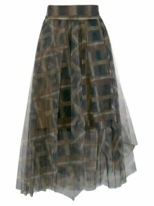 Brunello Cucinelli high-waisted square print skirt - Neutrals