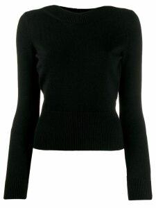 Alexander McQueen tie-back knit jumper - Black