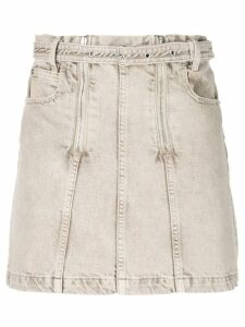 Proenza Schouler PSWL Zip Rigid Denim Skirt - Brown