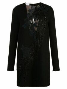 Oscar de la Renta beaded bird dress - Black