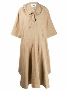 Jil Sander ruffle collar dress - Brown
