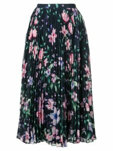 Marchesa Notte floral pleated skirt - Blue