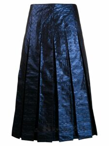 Coach metallic box pleat midi skirt - Blue