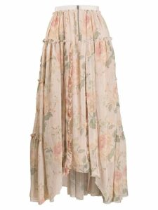 Coach handkerchief hem midi skirt - Neutrals