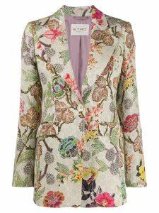 Etro floral print blazer - Neutrals