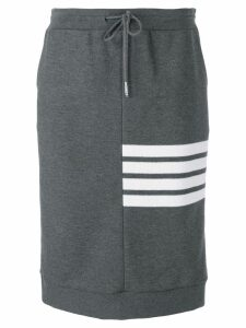 Thom Browne 4-Bar Double Face Sack Skirt - Grey