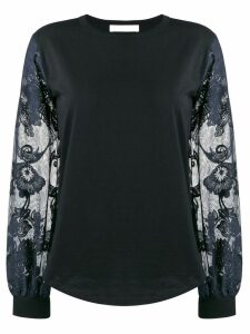 See By Chloé floral-sleeve top - Black