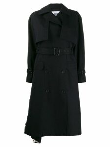 MSGM sequin trench coat - Black