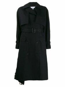 MSGM sequin trench coat - Black