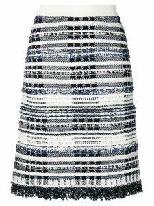 Thom Browne Navy Tweed Skirt - Black