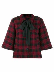 Red Valentino Houndstooth boxy jacket
