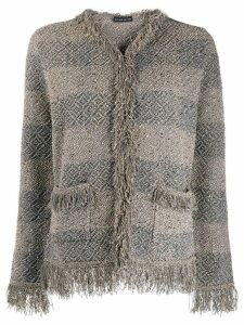Etro fringed pattern jacket - Grey