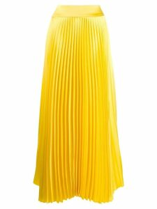 Alexandre Vauthier long pleated skirt - Yellow