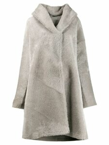 Liska hooded fur coat - Grey