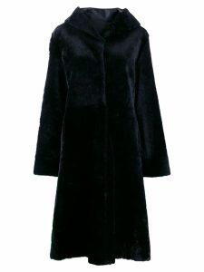 Liska hooded fur coat - Black