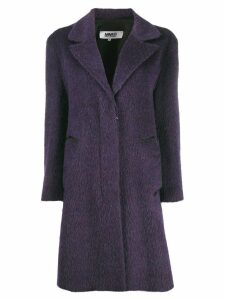 Mm6 Maison Margiela single breasted coat - Purple