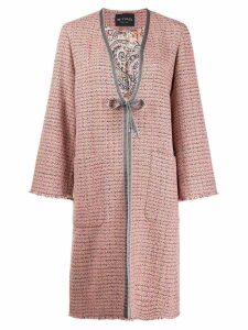 Etro tweed coat - Neutrals