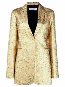 Victoria Beckham metallic fitted blazer - Gold