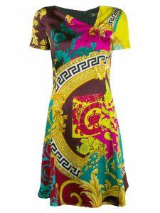 Versace Voyage Barocco print dress - Yellow