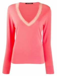 Luisa Cerano V-neck sweater - Pink