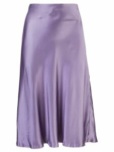 Nili Lotan silk midi skirt - Purple