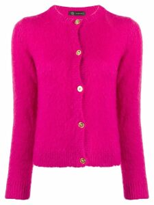 Versace fluffy knitted cardigan - Pink