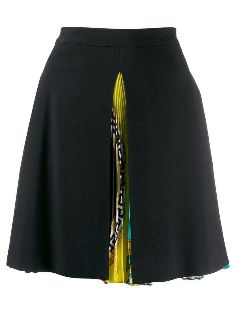 Versace Baroque print pleated skirt - Black