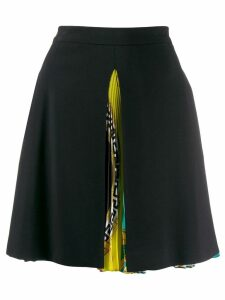 Versace Baroque print pleated skirt - Black