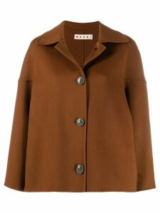 Marni dropped shoulder coat - Brown