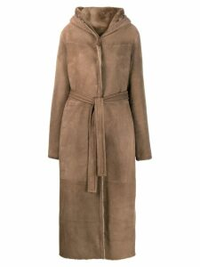 Liska Teddy hooded coat - NEUTRALS