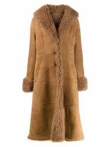 Liska Pippa flared hem coat - Brown