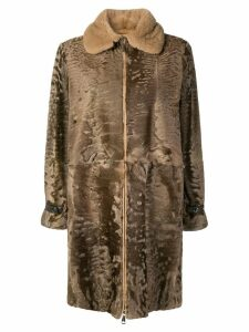 Manzoni 24 collared coat - Brown