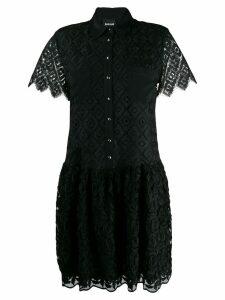 Just Cavalli lace shirt dress - Black
