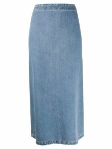 Mm6 Maison Margiela midi denim skirt - Blue