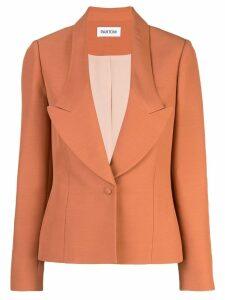 Partow single-breasted blazer - ORANGE