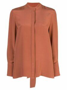 Partow collarless shirt - Orange