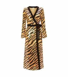 Gigi Tiger Sequin Midi Dress