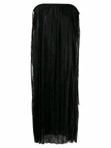 Mm6 Maison Margiela long lace overlay dress - Black